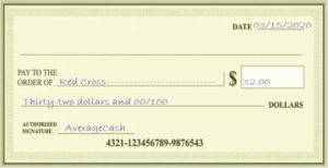 Write a Check Without Cents Example
