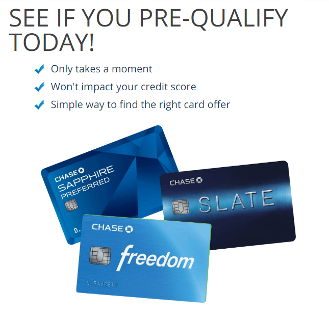 How to Prequalify for a Chase Credit Card, August 2021